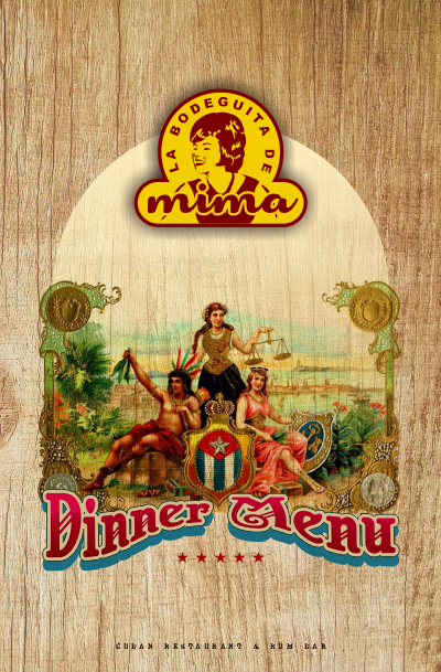 La Bodeguita de Mima - Dinner Menu Cover