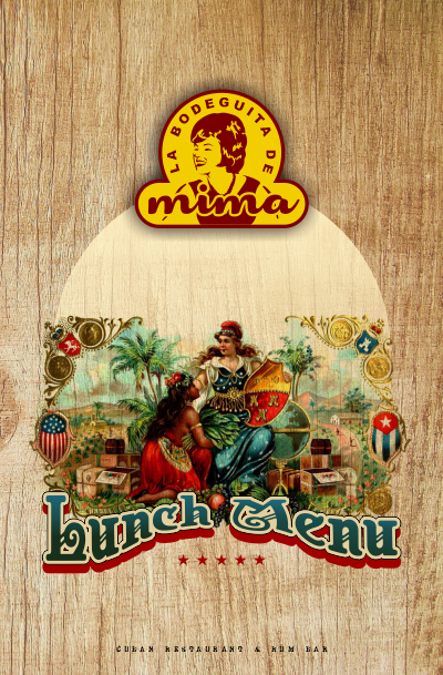 La Bodeguita de Mima - Lunch Menu Cover