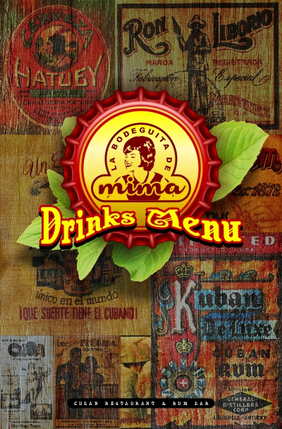 La Bodeguita de Mima - Drinks Menu Cover